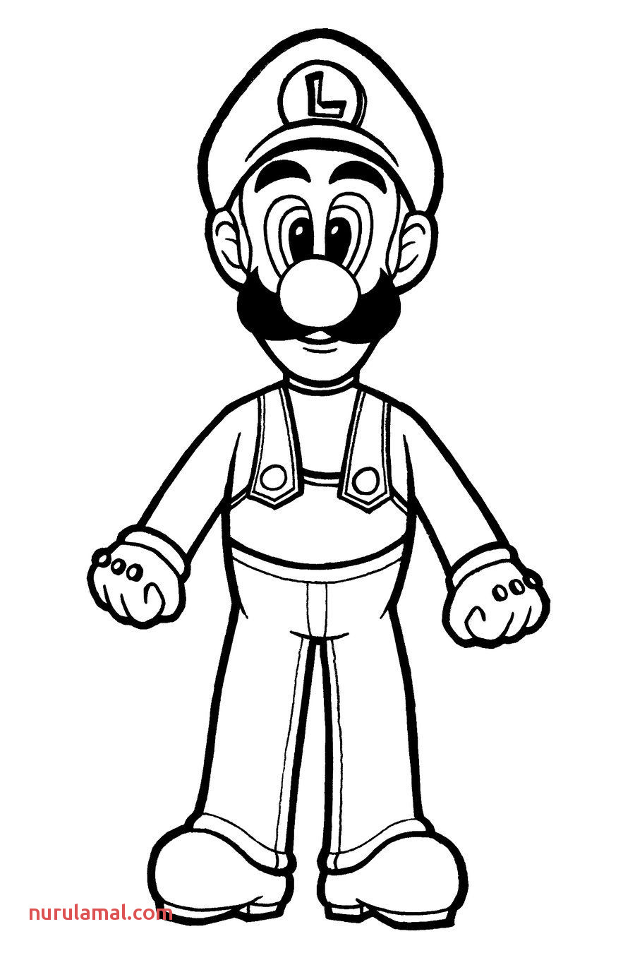Printable Luigi Coloring Pages Free