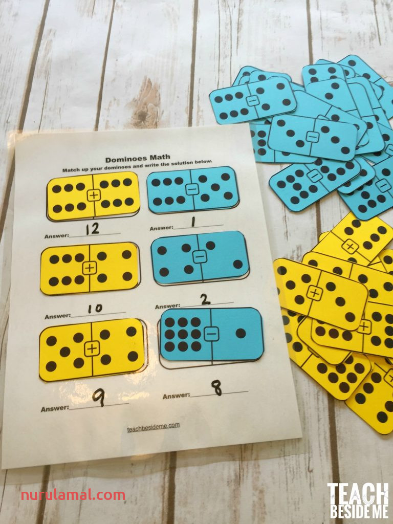 Printable Math Dominoes for Addition Subtraction – Teach