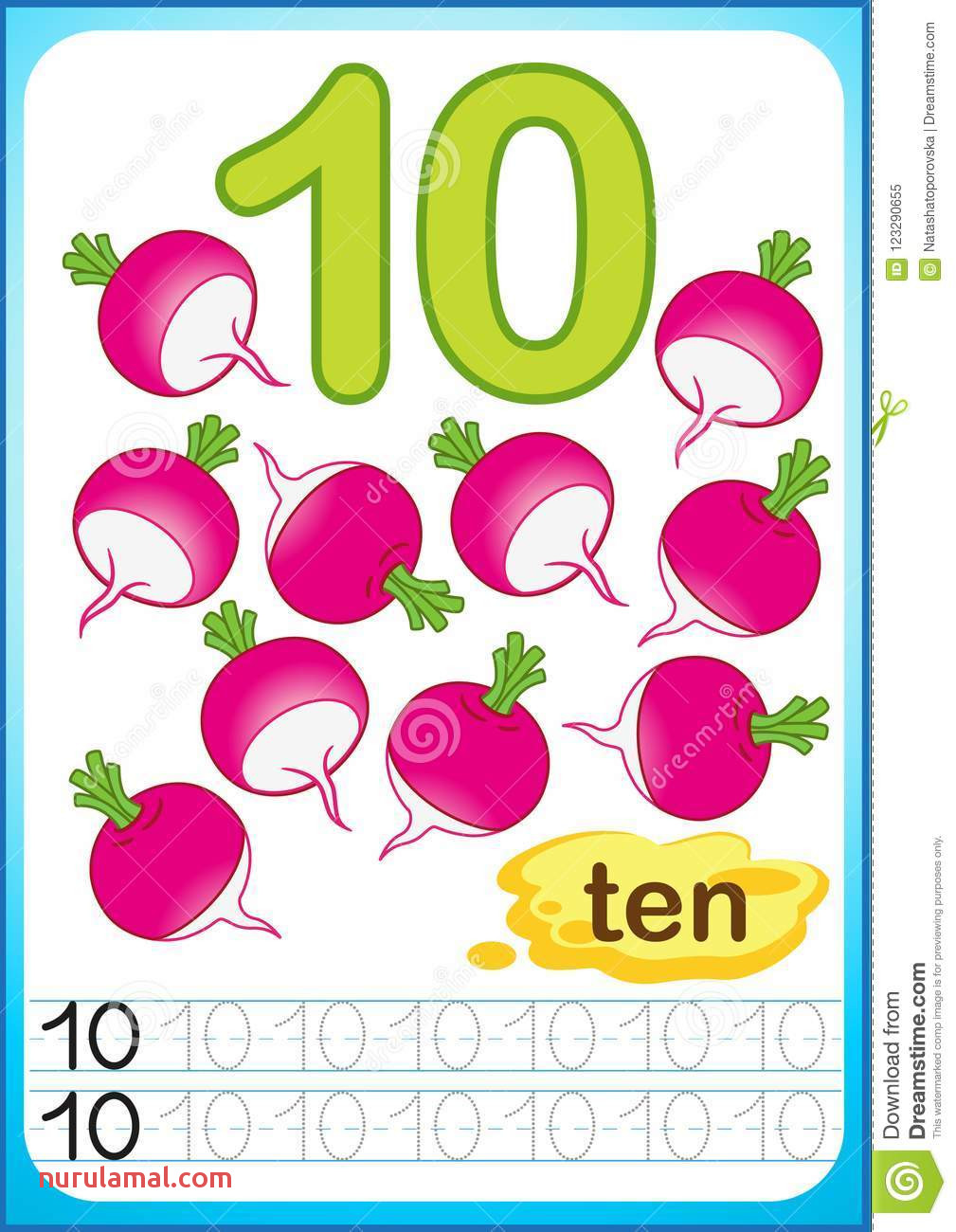 printable worksheet kindergarten preschool count write numbers to exercises writing bright ve able harvest chili
