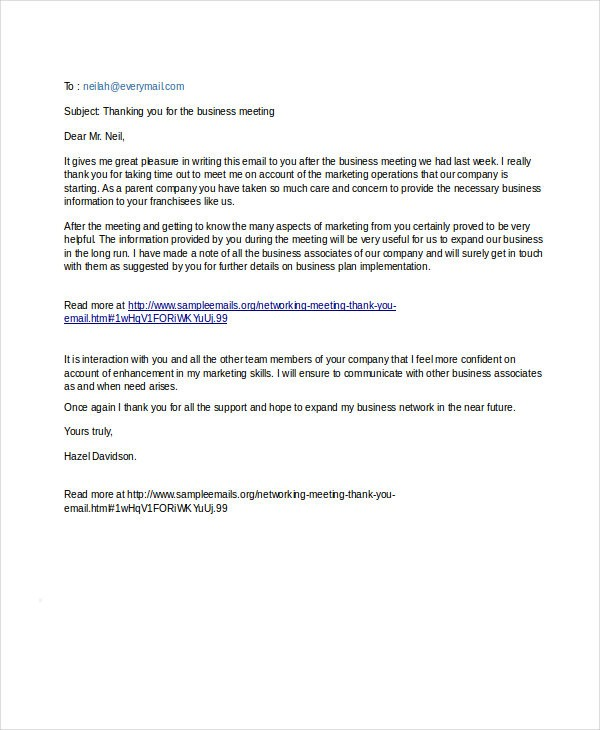 Professional Email Example F Resume