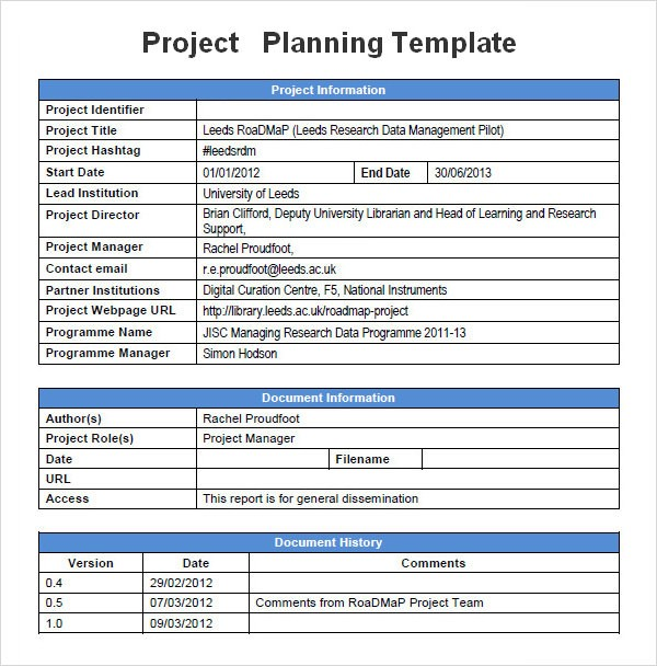 project planning template free download for word  u2013 nurul amal