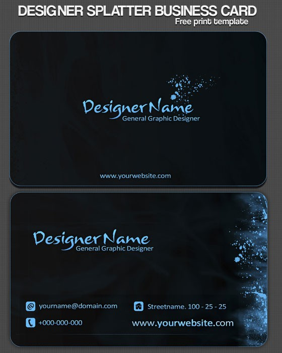 Psd Business Card Templates Webmantra
