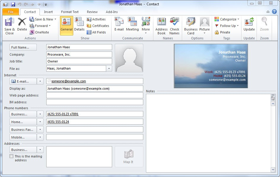 Quick Tip Create An Electronic Business Card From A