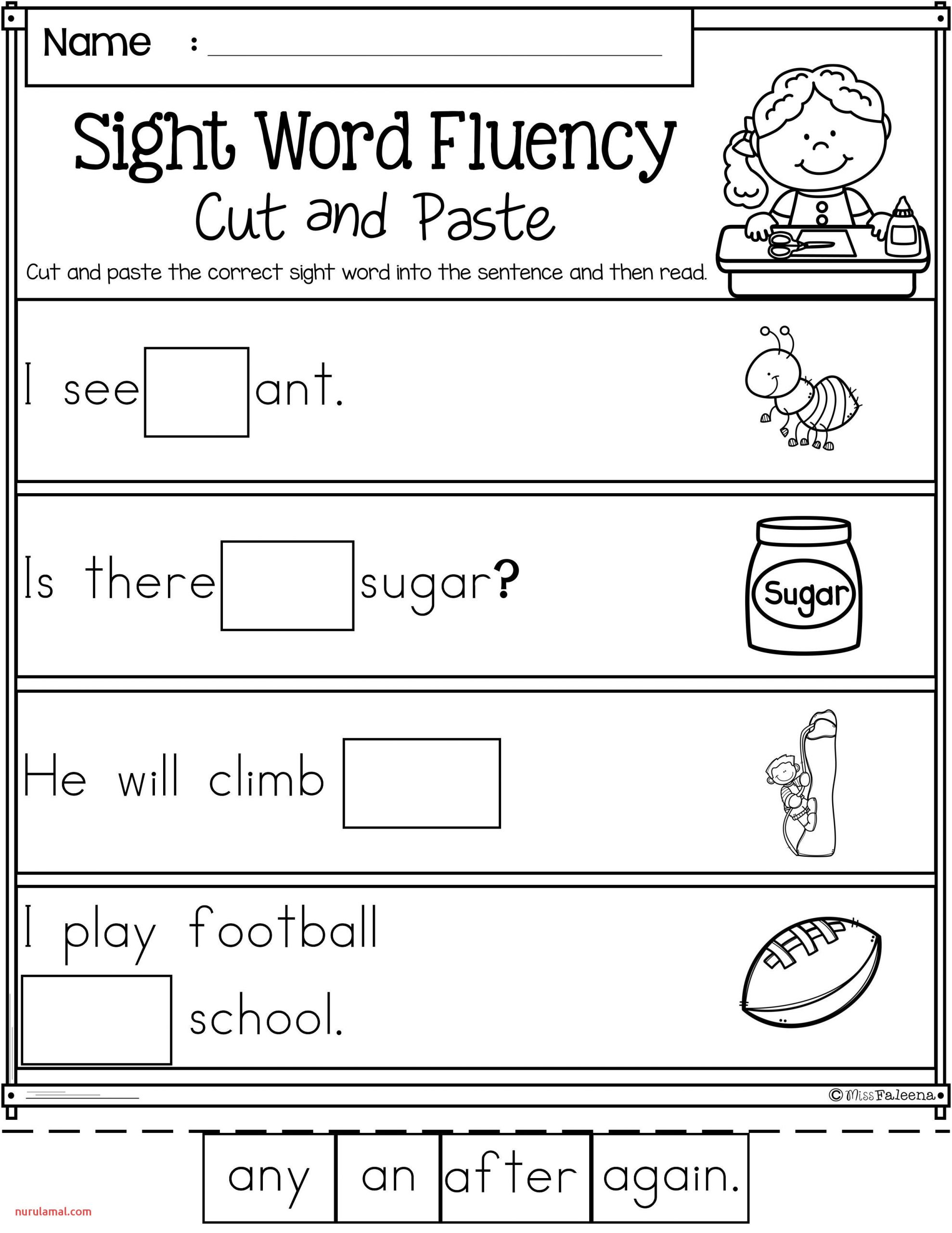 Reading Worskheets Kindergarten Reading Worksheets Doubles