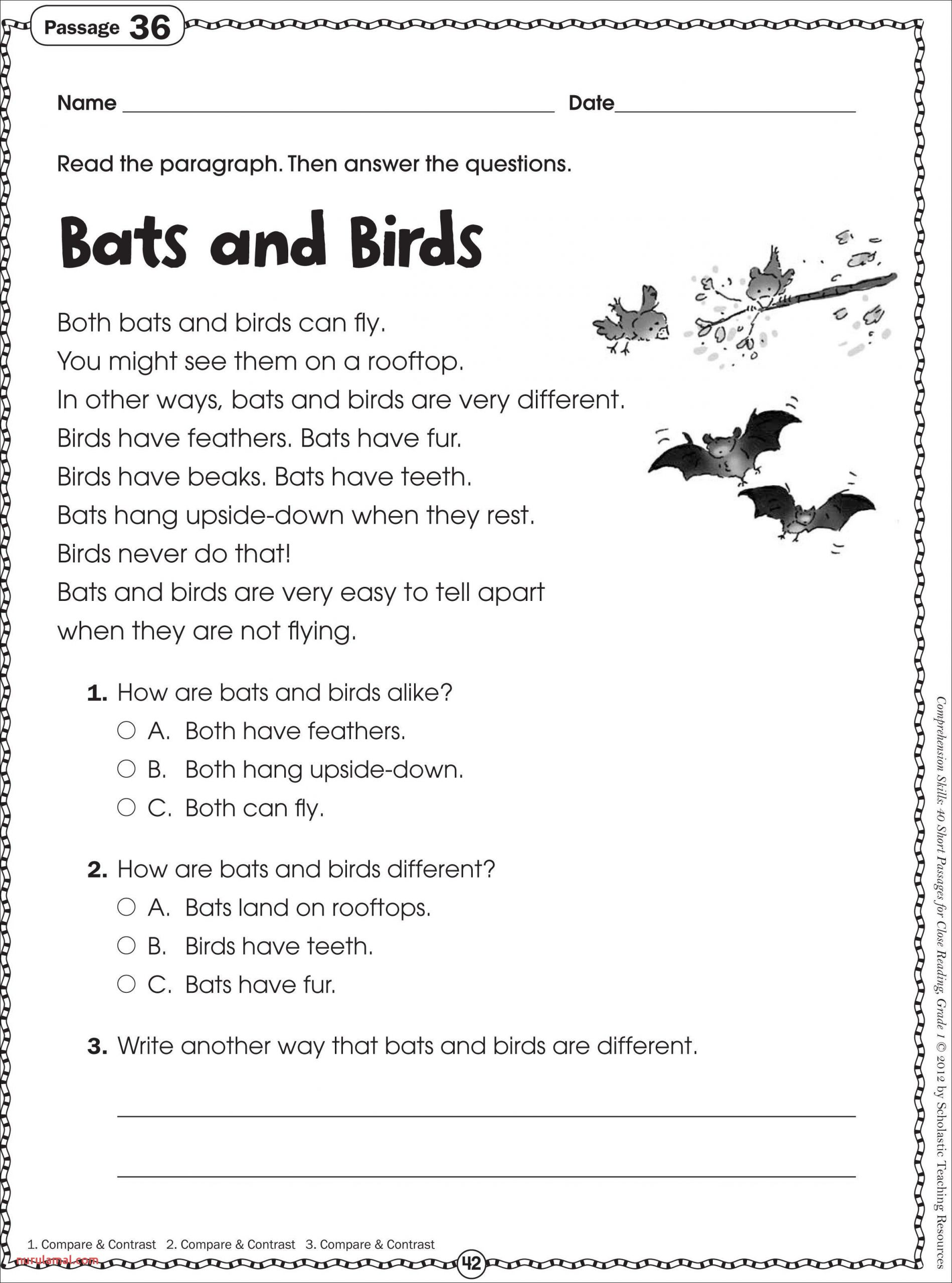 Reading Worskheets Kindergarten Reading Worksheets