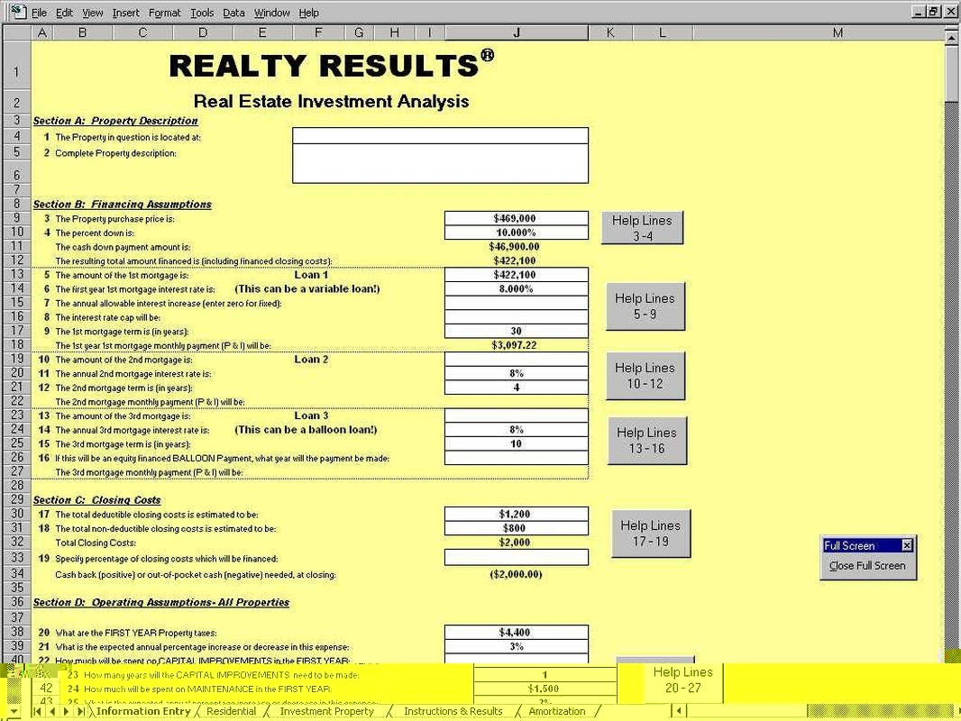 Real Estate Math Formulas Cheat Sheet