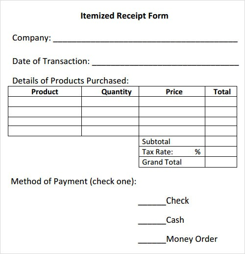 Receipt Template Download Free Documents In Pdf