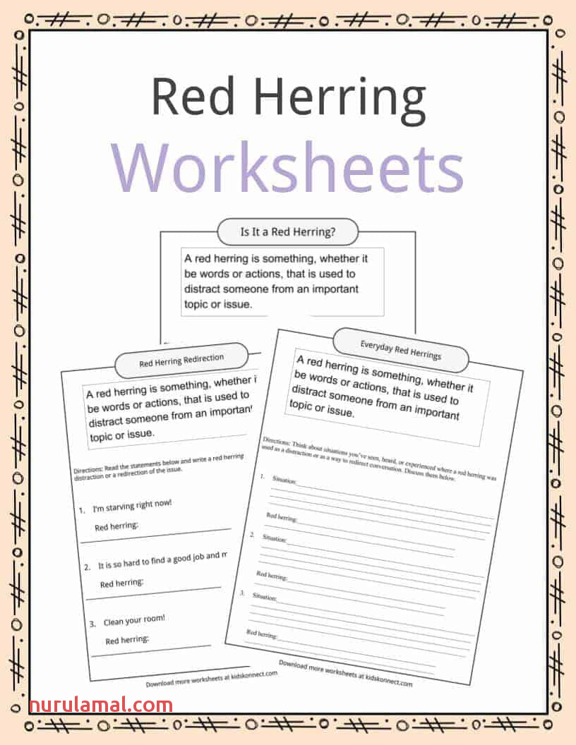 Red Herring Definition Worksheets Facts & Examples for Kids