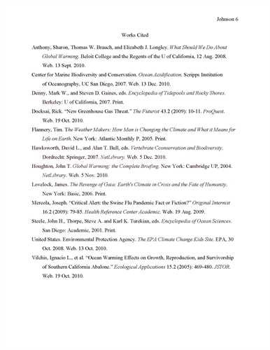 Research Paper Works Cited Page Jeranka