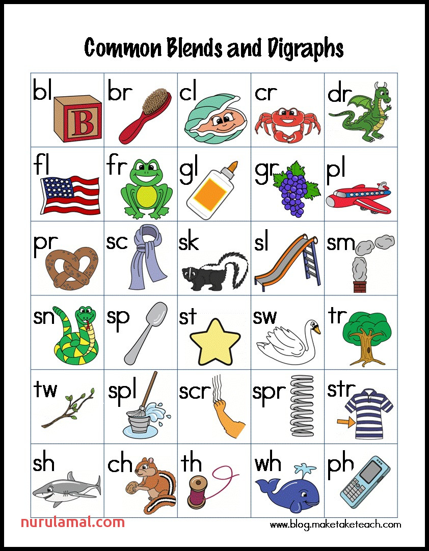 Resources for Teaching Blends and Digraphs Make Take & Teach