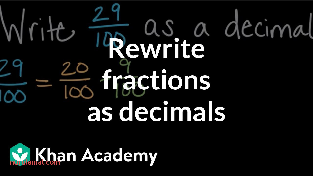 Rewriting Fractions as Decimals Video