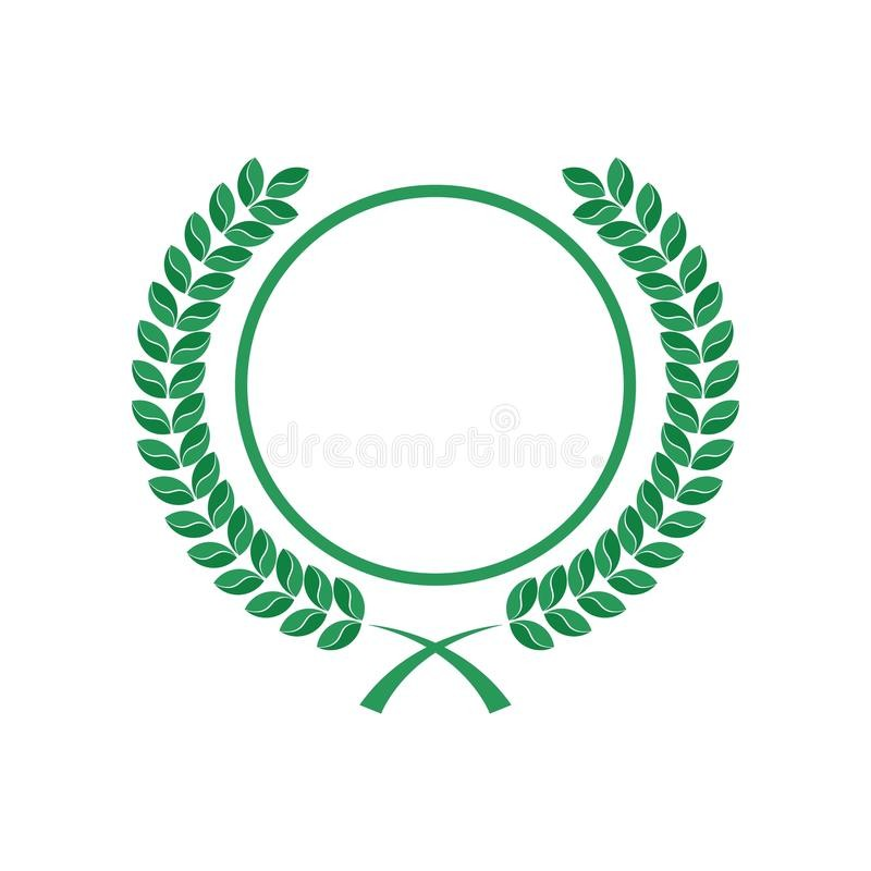 Rounded Leaves And Circle Logo Stock Illustration