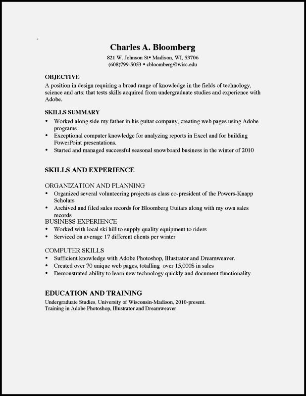 Sample Cv For A Year Old Uk Resume Template Cover