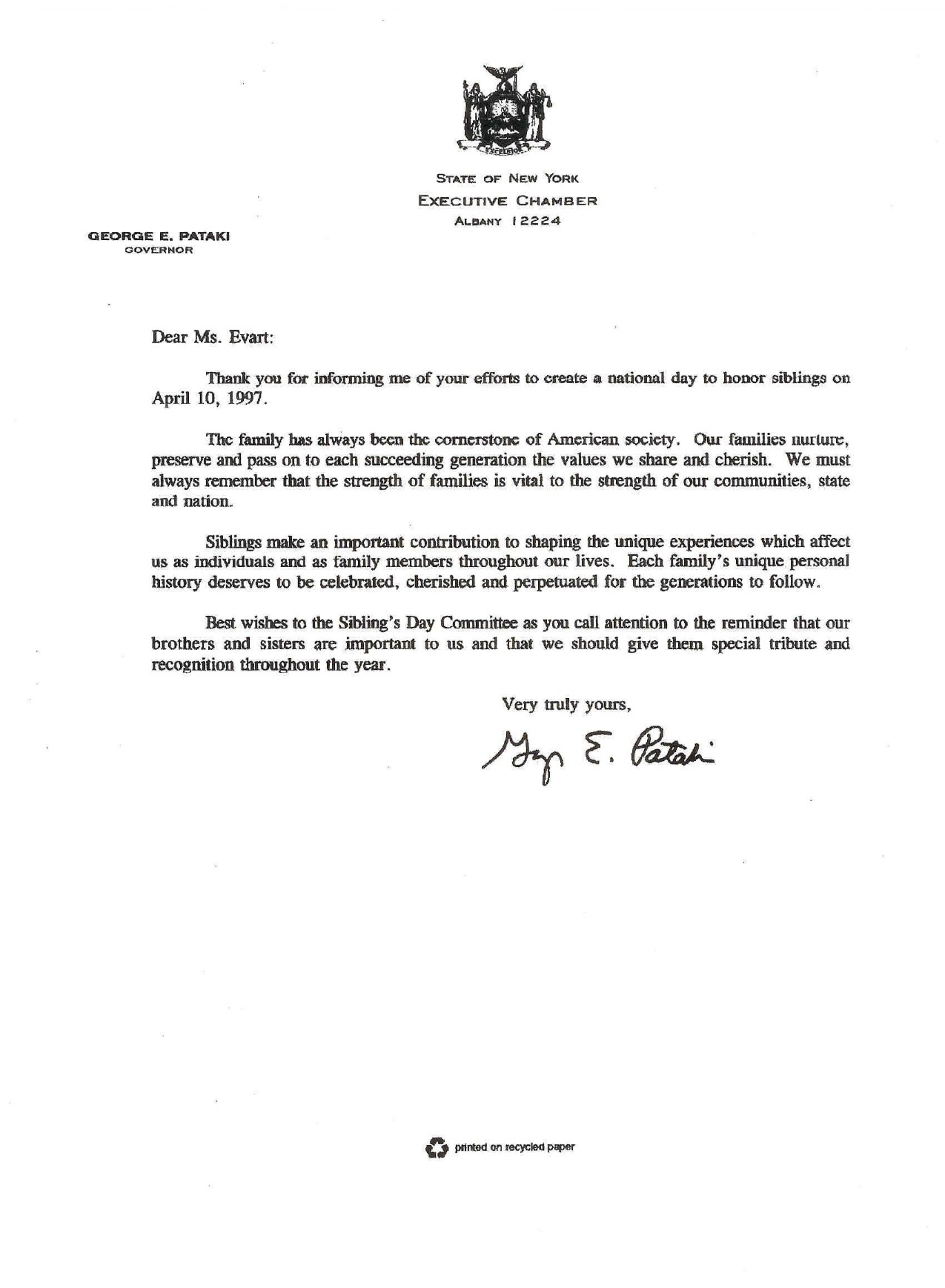 Letter Of Support Example