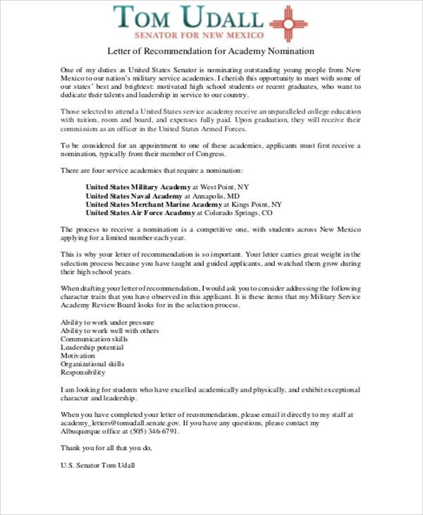 Sample Military Letter Of Recommendation Sample Templates