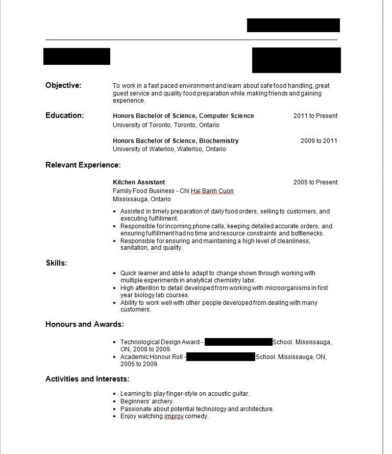 Sample Resume For A Year Old With No Experience Year