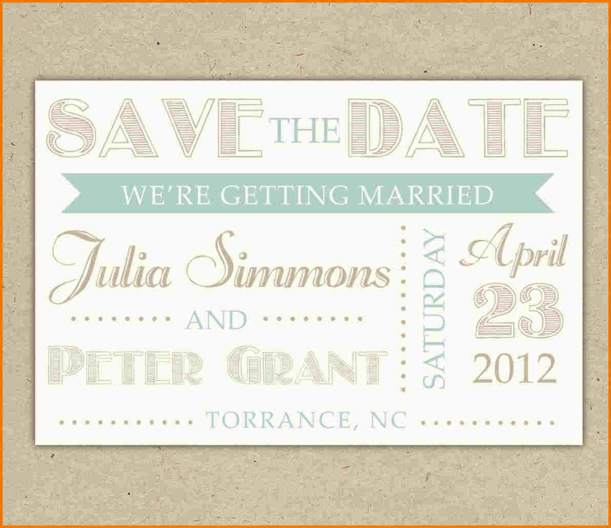 Save The Date Template Word Authorization Letter Pdf