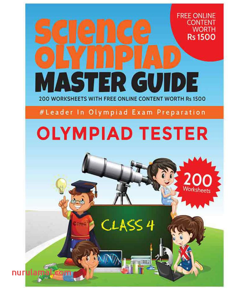 Science Olympiad Master Guide Class 4  200 Worksheets with Free Line Content Worth Rs 1500