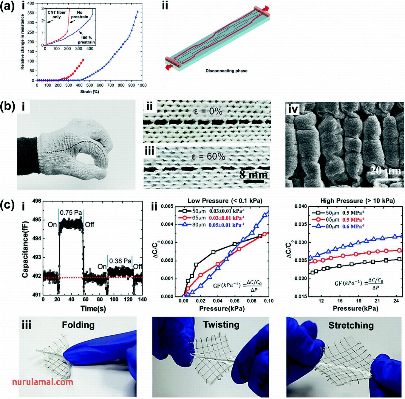 Self Supported Materials for Flexible Stretchable Sensors