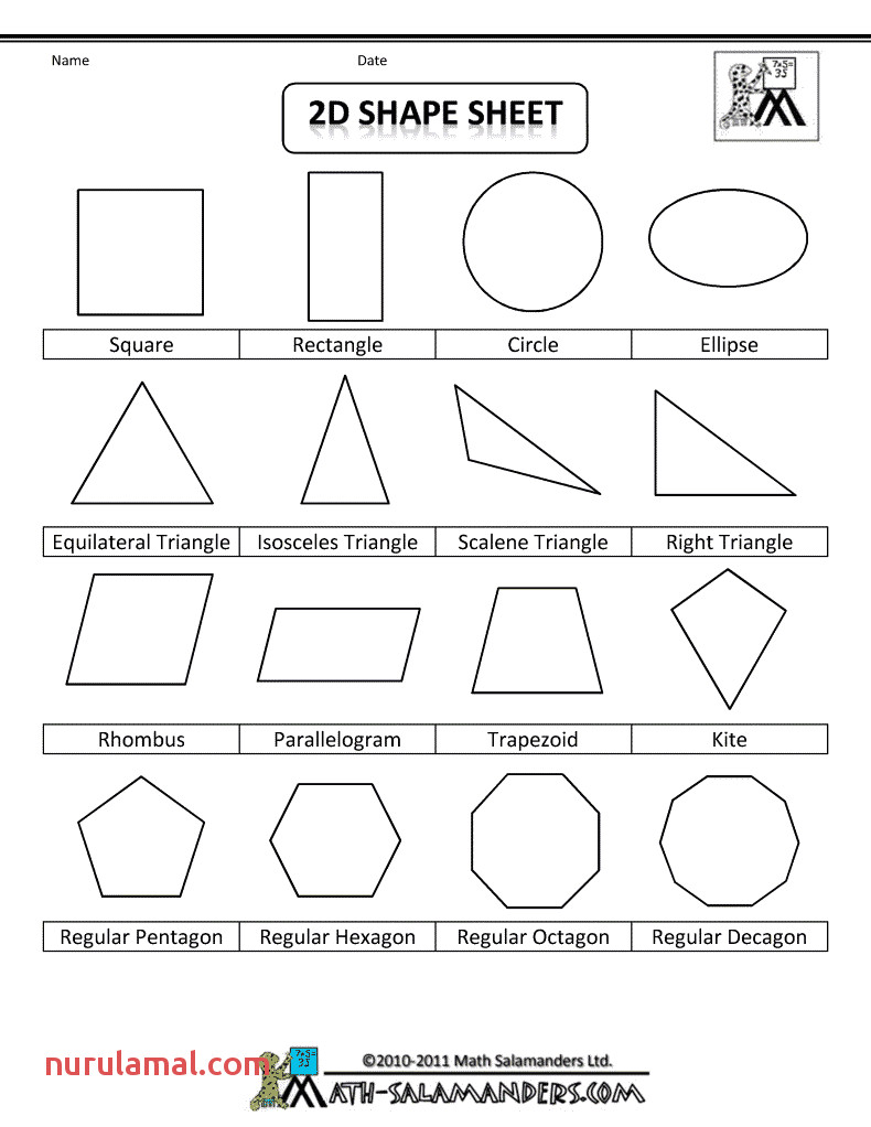 Shape Figures to Print for Personal Anchor Charts