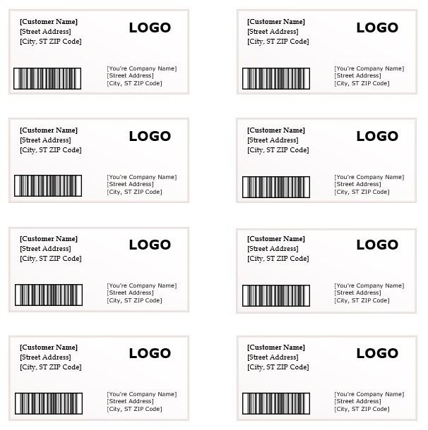 Shipping Label Template Microsoft Word Templates