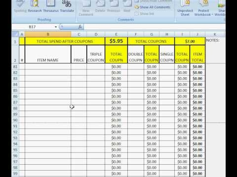 Shopping Coupon Tracking Form For Excel Helps For