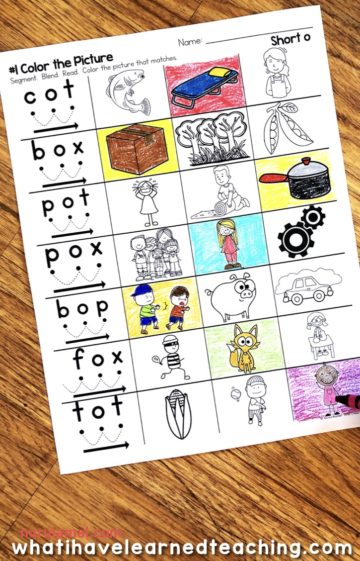 Short O Phonics Worksheets Short O Cvc Words