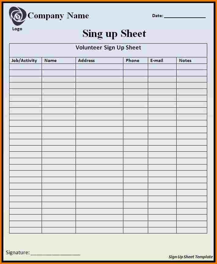 Sign In Sheets Templates Authorization Letter Pdf