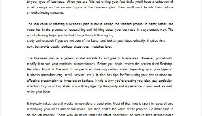 16+ Business Plan Template Examples
