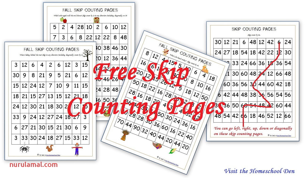 Skip Counting Worksheets Number Line
