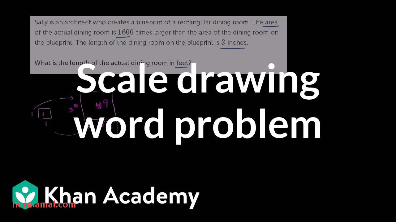 Solving A Scale Drawing Word Problem Video