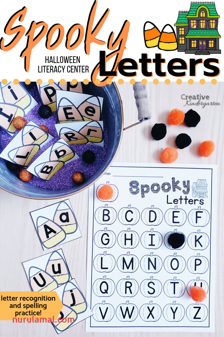 Spooky Letters Halloween Alphabet Literacy Center French