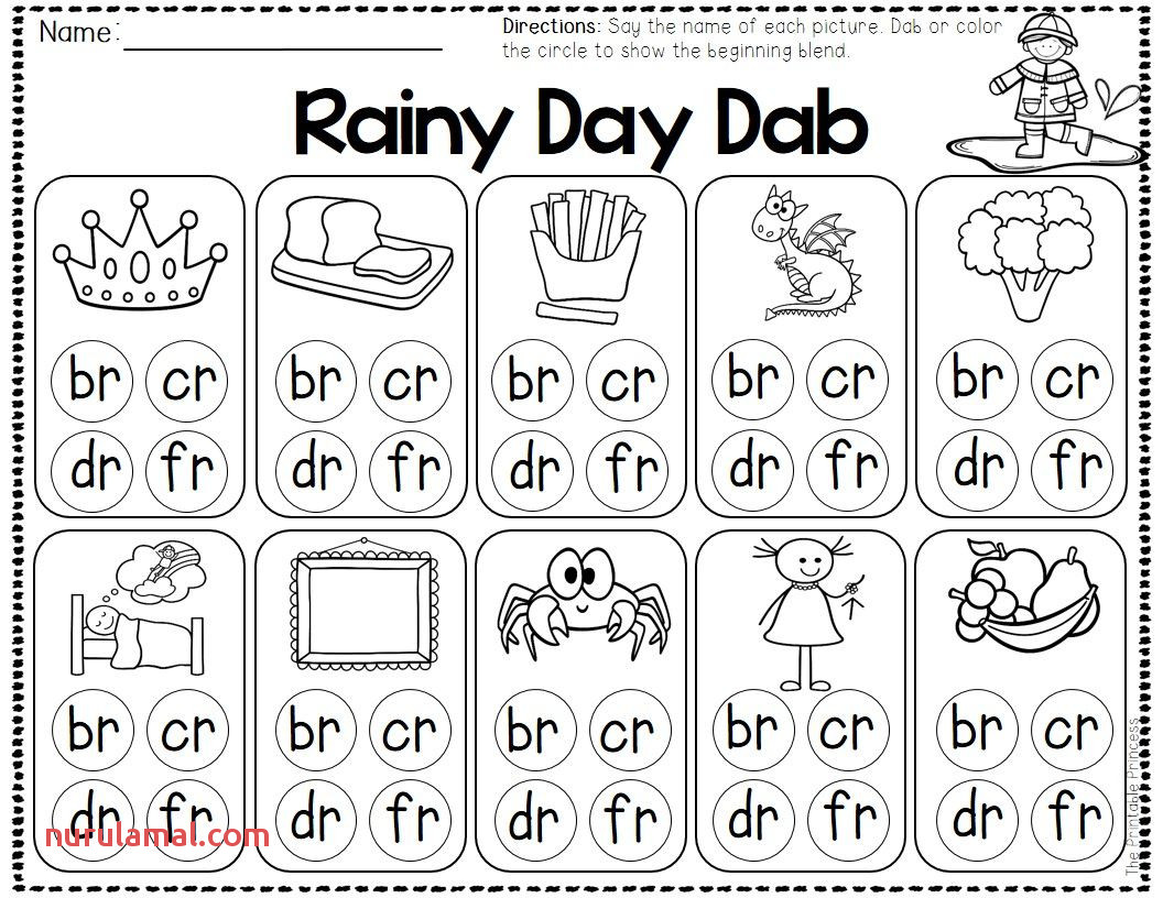 Spring and Weather Centers for Kindergarten Math & Literacy