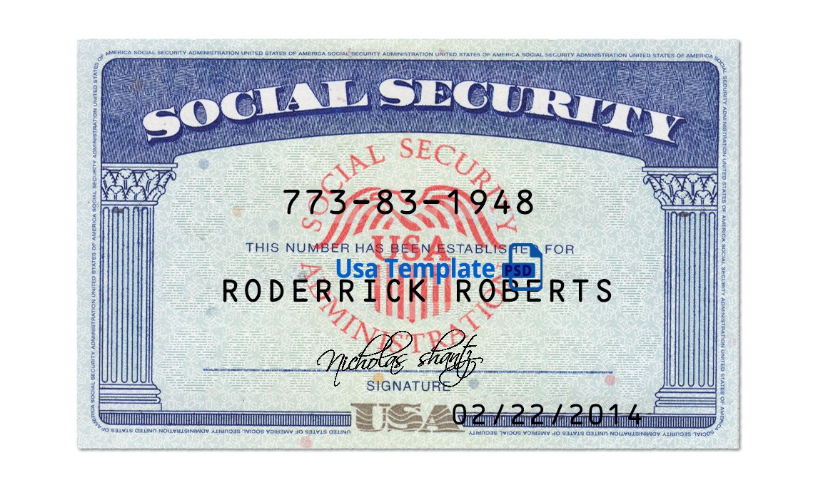 Social Security Card Template Free