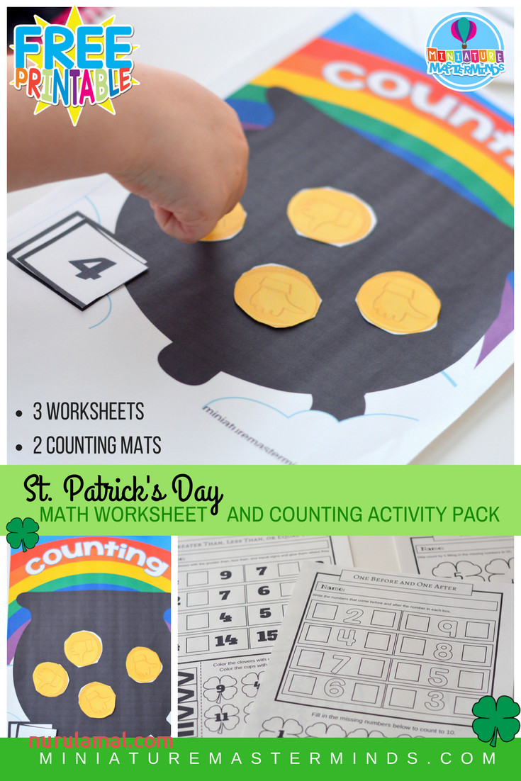 St Patrick S Day Math Worksheet and Counting Activity Pack