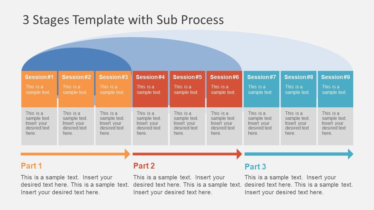 Stage Sub Process Template Slidemodel