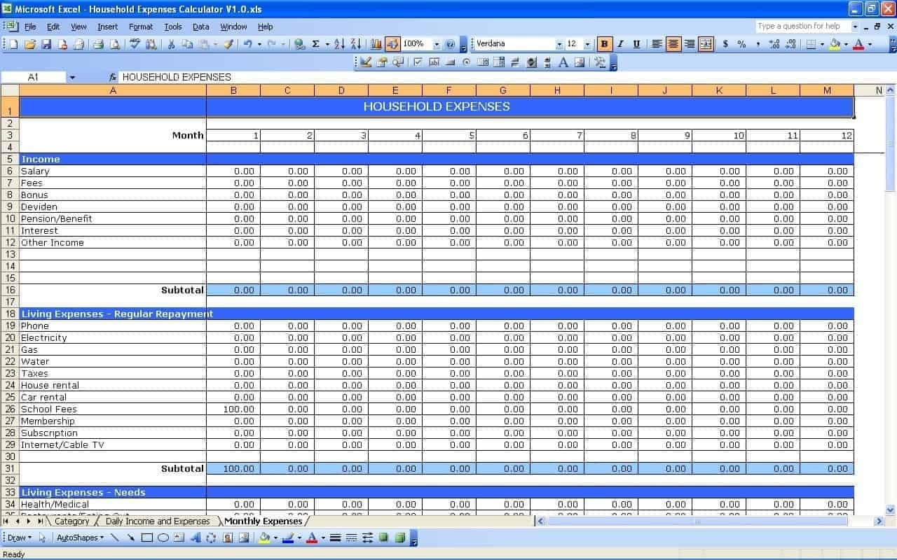 Start Up Business Budget Template Spreadsheets