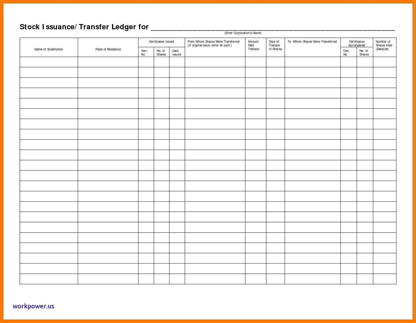 Stock Ledger Excel Ledger Review
