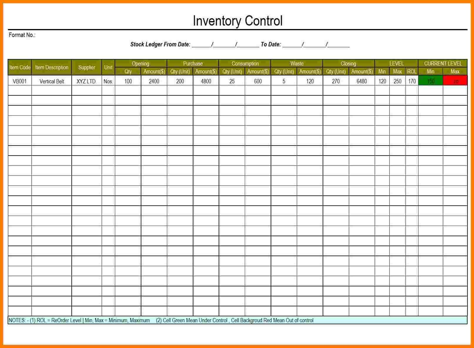 Stock Ledger Template Mommymotivation