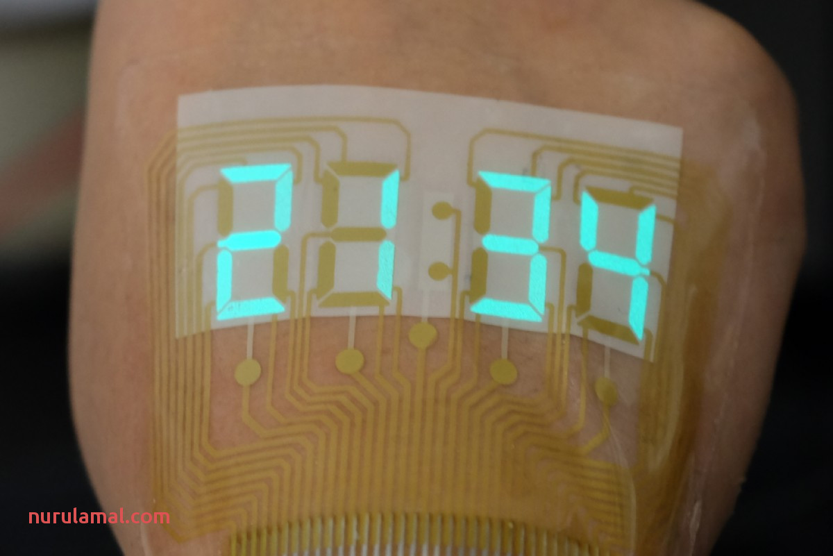Stretchable Electronics Creates A Stopwatch Sticker that S