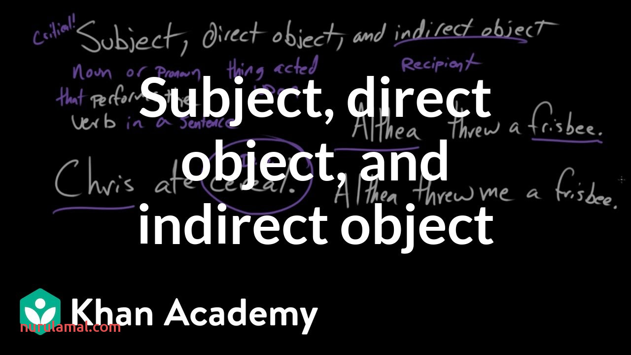 Subject Direct Object and Indirect Object Video