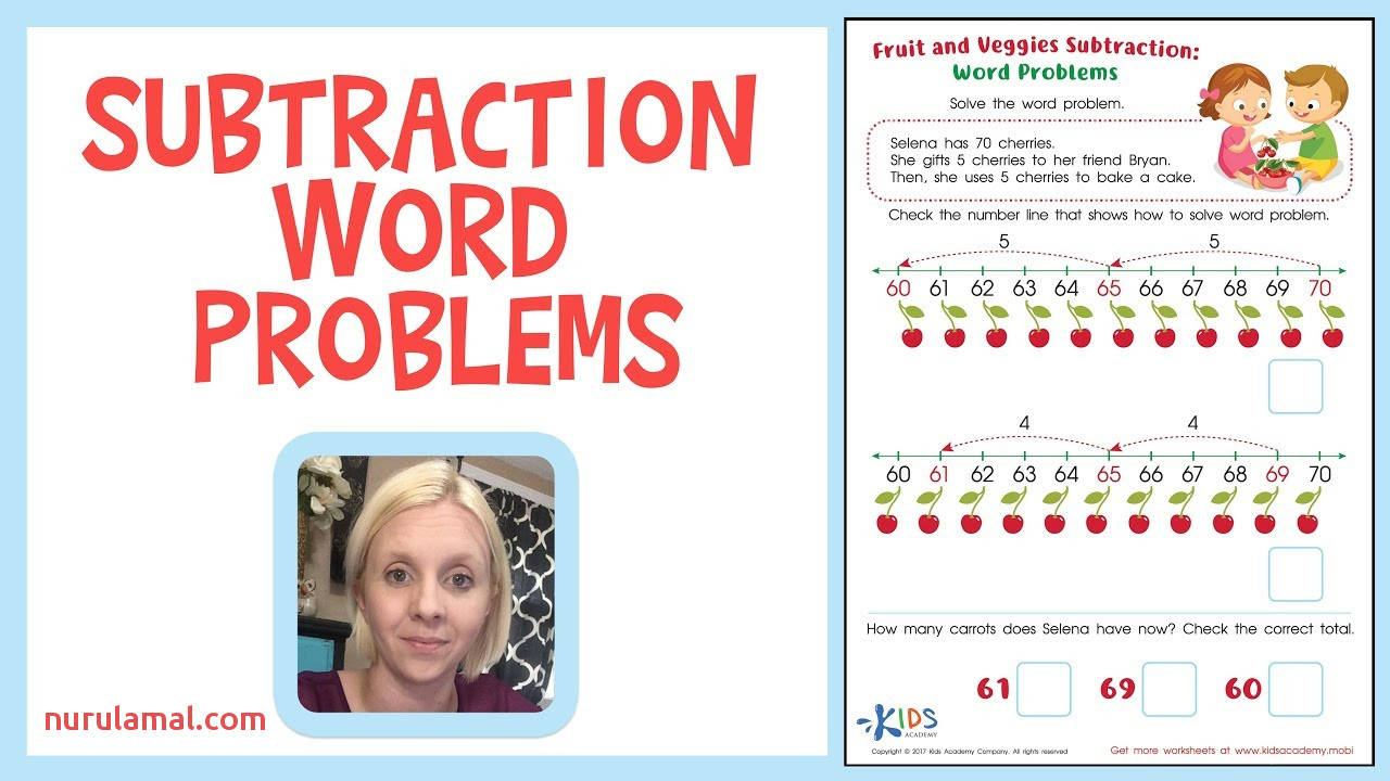 Subtraction Word Problems for Kids Grade 2