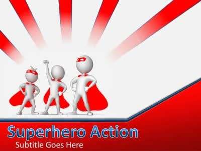 Superhero Action A Powerpoint Template From