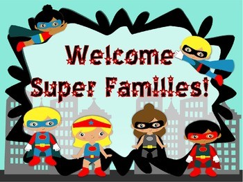 Superhero Powerpoint Perfect For Open House Or Meet The