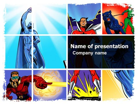 Superheroes Presentation Template For Powerpoint And