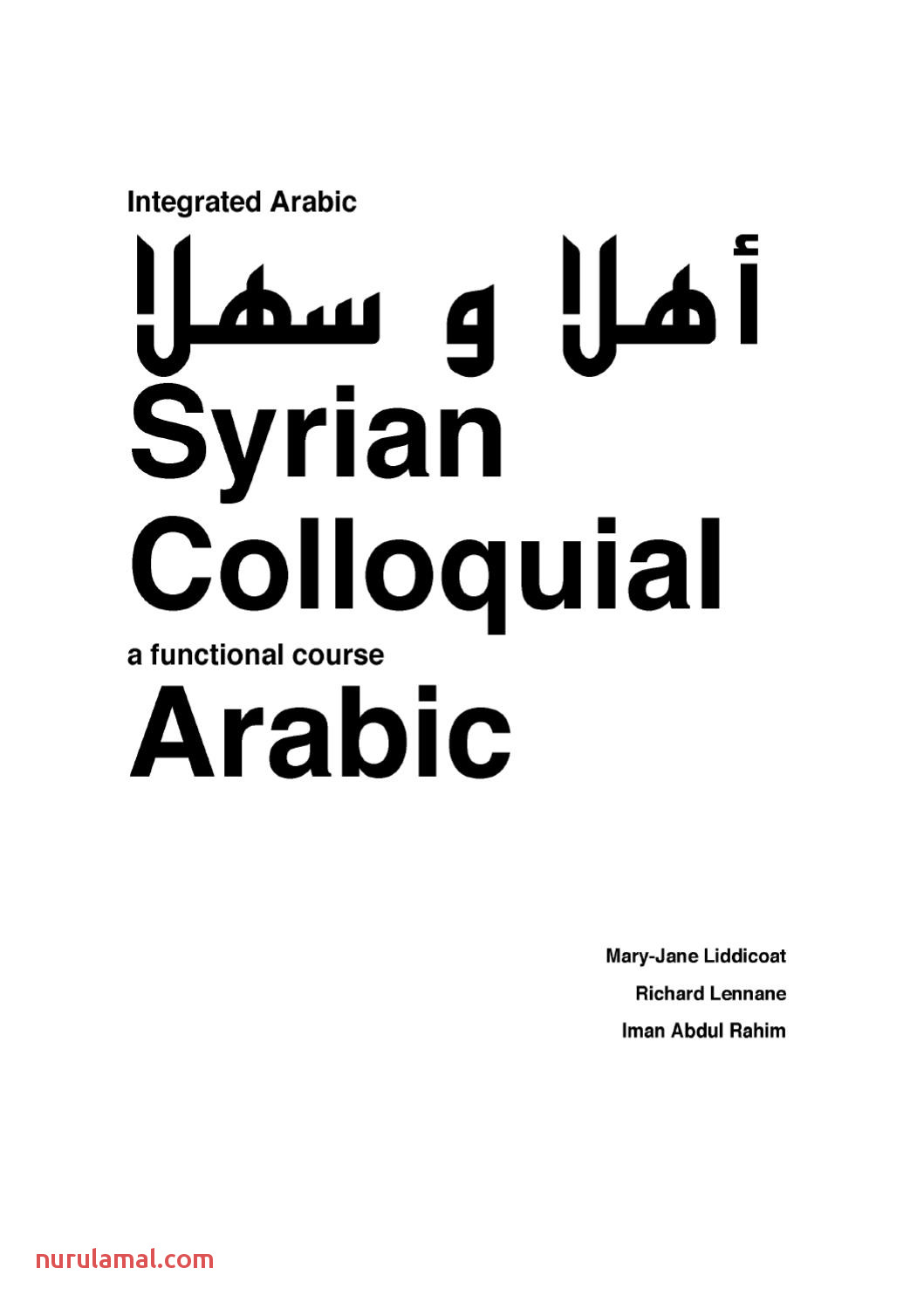 Syrian Colloquial Arabic by Ahmet Ak issuu