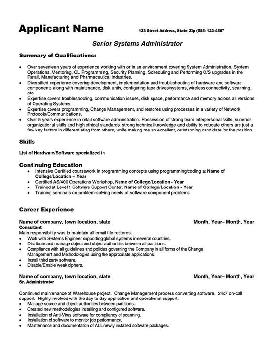 System Administrator Resume System Administrator Resume
