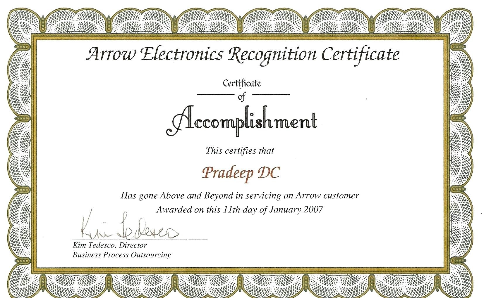 Template Employee Recognition Certificate Template