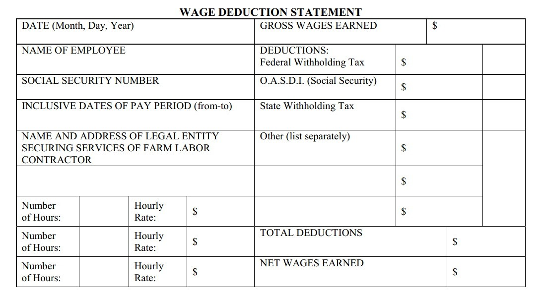 Template Free Download Paycheck Stubs Blank Paycheck Stub