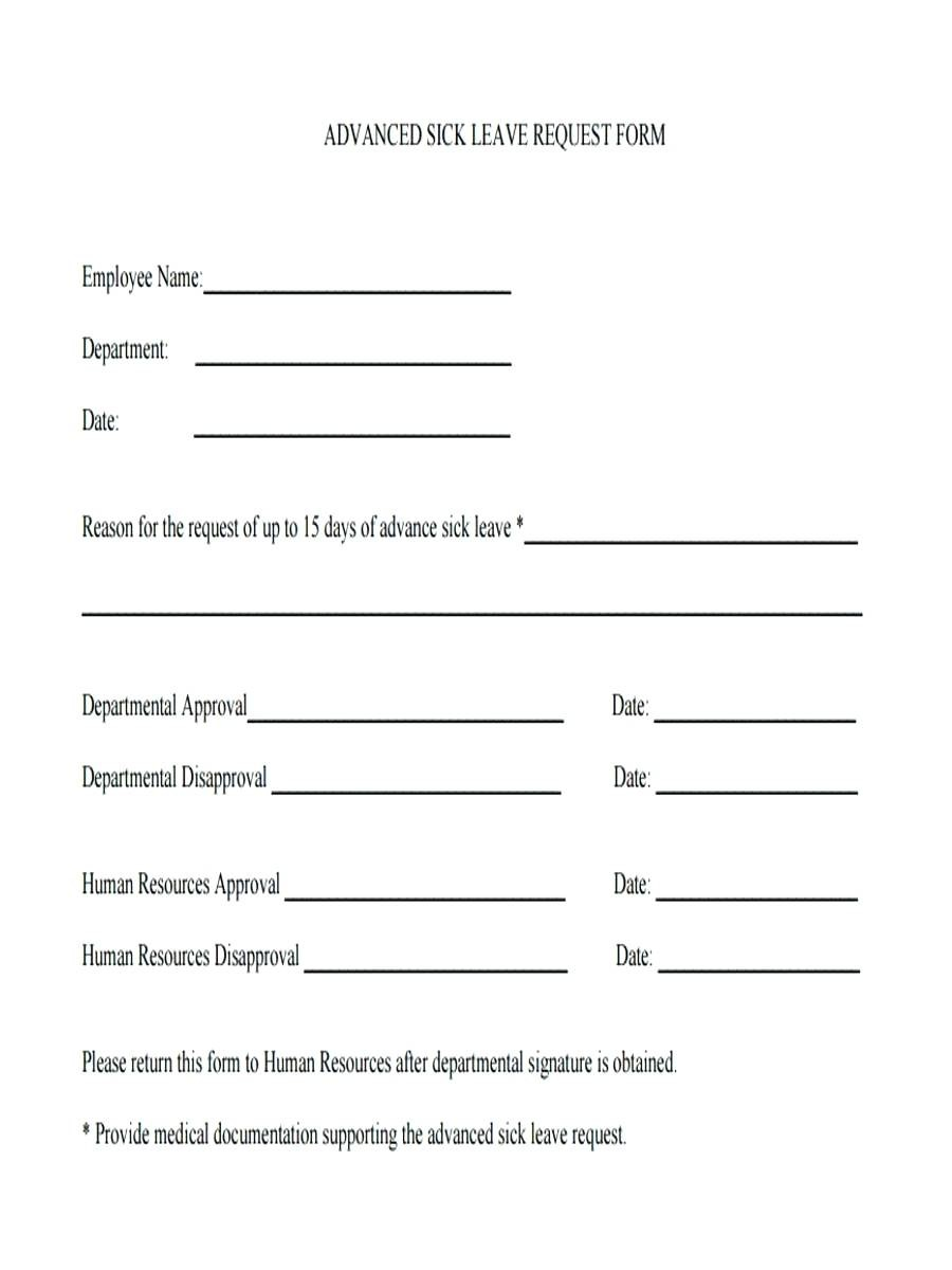 Template Sick Leave Form Template